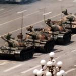 """tank man"" in Tiananmen Square"