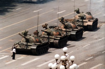 """tank man"" in Tiananmen Square"